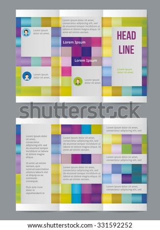 Vector  business brochure or magazine cover  template with rectangles. - stock vector