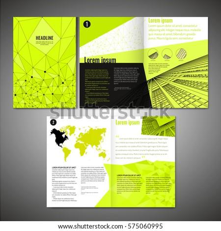 Vector Business Brochure Template Modern Idea Stock Vector Hd