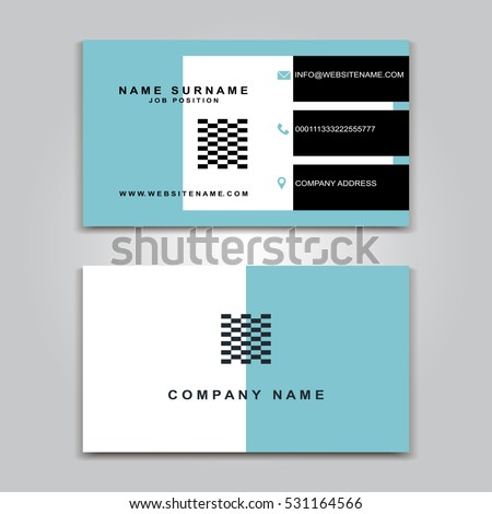 Vector Business Card creative Design, Modern trend style, front and back samples, luxury templates in classic colors, blank layout for your idea