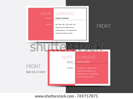 Vector business card layout half colored stock vector 769757875 vector business card layout with half colored graphic design clean business graphic colourmoves