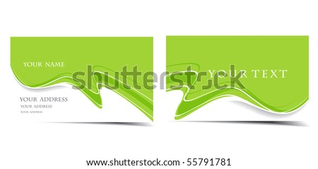 vector business card set, for more business card of this type please visit my gallery - stock vector