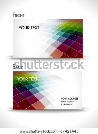 vector business card set, illustration - stock vector