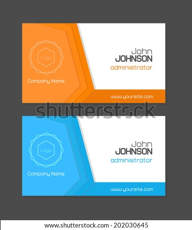 Vector business card template orange blue stock vector 202030645 vector business card template in orange and blue color reheart Image collections