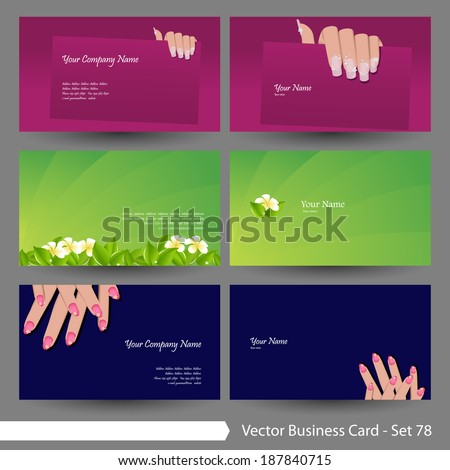 Vector business card template set beauty stock photo photo vector vector business card template set beauty manicure flower and clean graphic design elements accmission Gallery