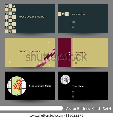 vector business card template set clean stock vector 113022298