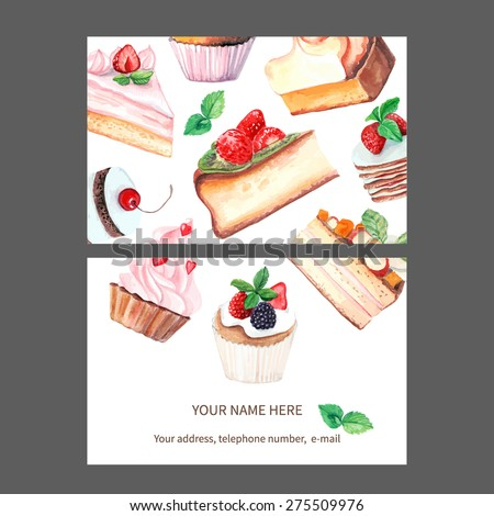 vector business card template. This file can be used for advertising, print design. Visit card, invitation, greeting card. - stock vector