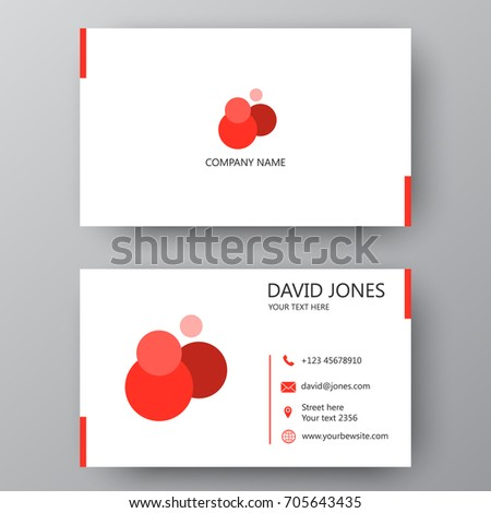 Vector Business Card Template Visiting For And Personal Use Modern Presentation