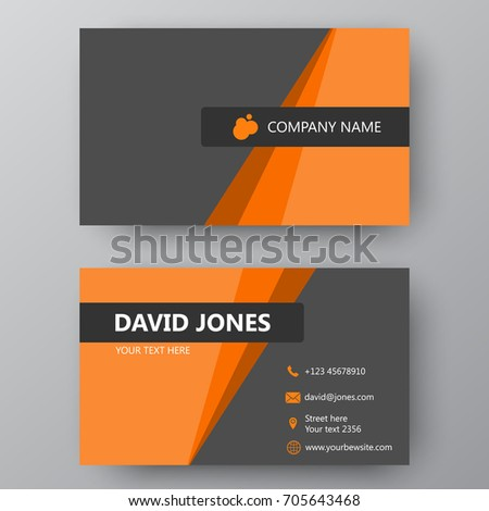 Vector business card template visiting card stock vector 705643468 vector business card template visiting card for business and personal use modern presentation card friedricerecipe Choice Image