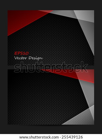 vector  business card templates set with texture. Eps10 - stock vector