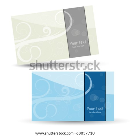 Vector business cards templates - stock vector
