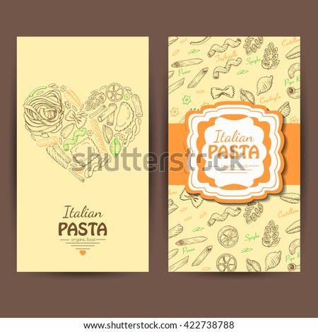 Vector business cards italian pasta restaurants stock vector vector business cards with italian pasta for restaurants vector illustration for your design colourmoves