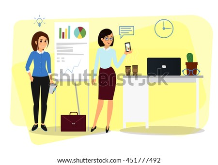 Vector business Cartoon characters for your design - stock vector