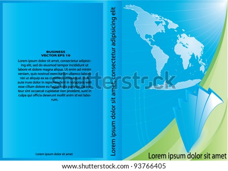 Vector business Cover design