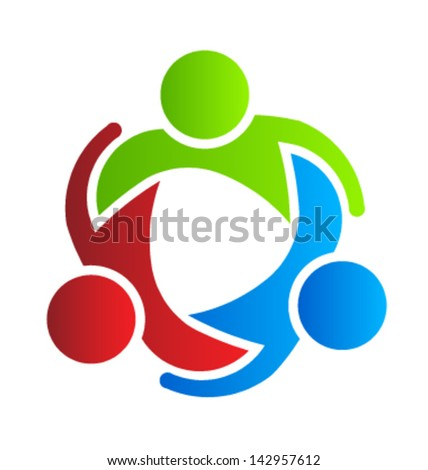 Vector Business design element icon Partners 3 - stock vector