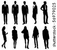 Vector Business/ Fashion Silhouettes - stock photo