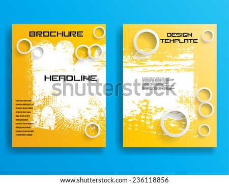 Vector Business Flyer Template or Corporate Design . Abstract Modern Background