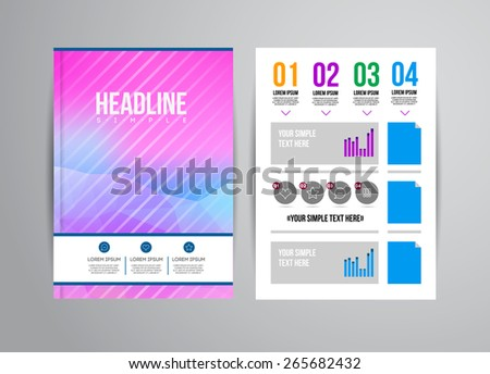 Flyer Vector Template Infographic Timeline World Stock Vector ...