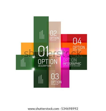 Vector business geometric infographic template