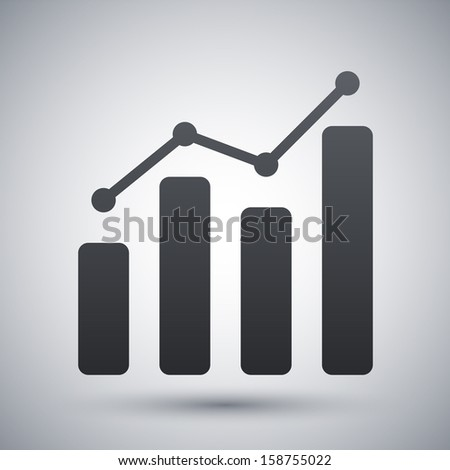 Vector business graph icon - stock vector