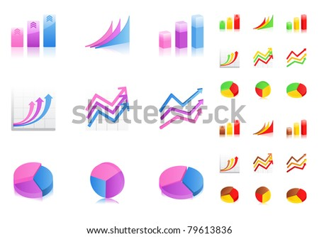 Vector business graphs icons