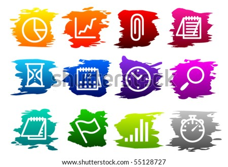 Vector Business Icon Set - stock vector