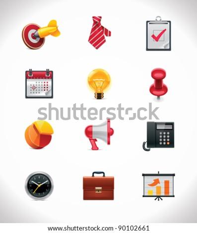Vector business icon set - stock vector