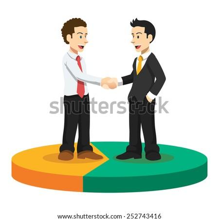 Vector business illustration - stock vector