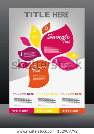 Vector business presentation, brochure, flyer, magazine cover & poster design template - stock vector
