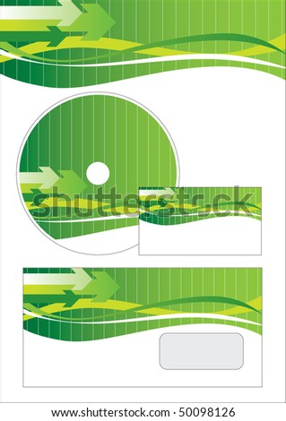 Vector business stationery set - stock vector