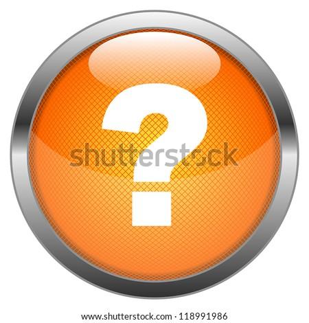 Vector Button FAQ - stock vector