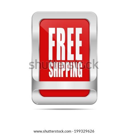 """Vector button """"free shipping"""". - stock vector"""