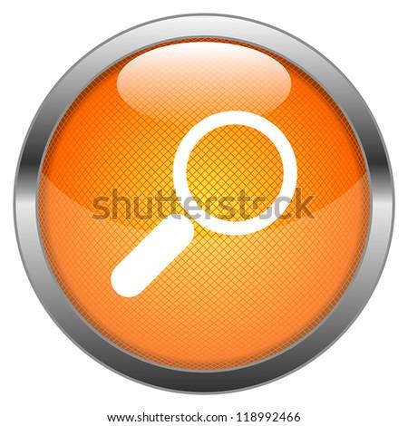 Vector Button Search - stock vector
