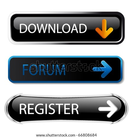 Vector buttons - download, forum, register