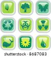 vector buttons for environmental protection - stock photo