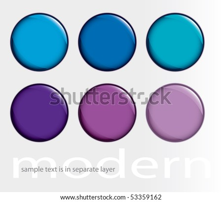 vector buttons for web, computing etc. - stock vector