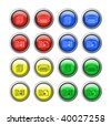 Vector buttons for web design. - stock vector