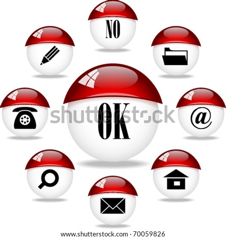 vector buttons set for web - stock vector