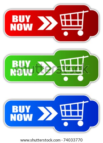Vector buy now buttons, eps10 - stock vector