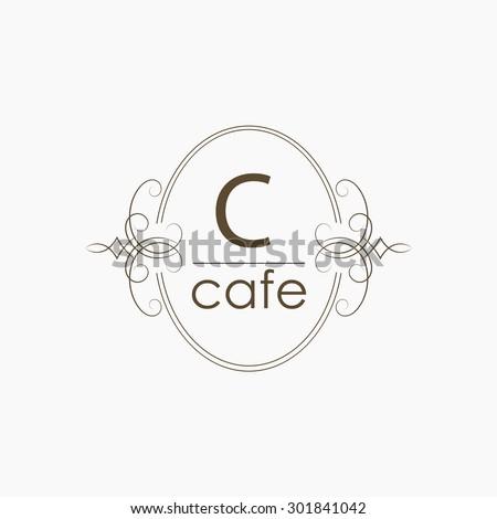 Vector cafe logotype - stock vector