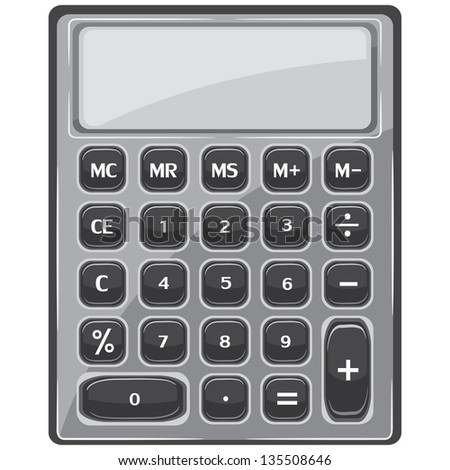 Vector calculator in black and white on a white background
