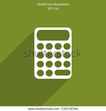 Vector calculator web flat icon. Eps 10 illustration. - stock vector