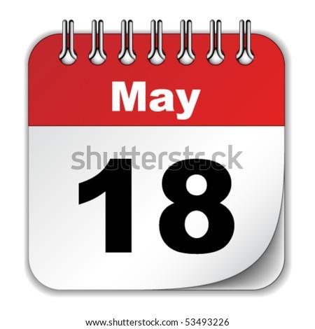 vector calendar - stock vector