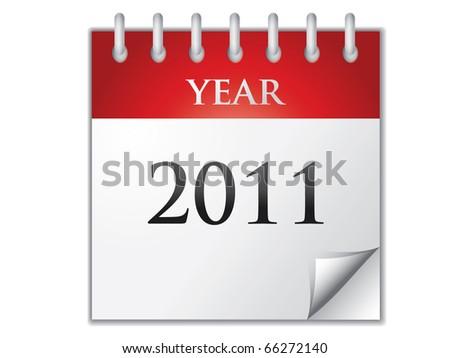 Vector Calendar 2011 - stock vector