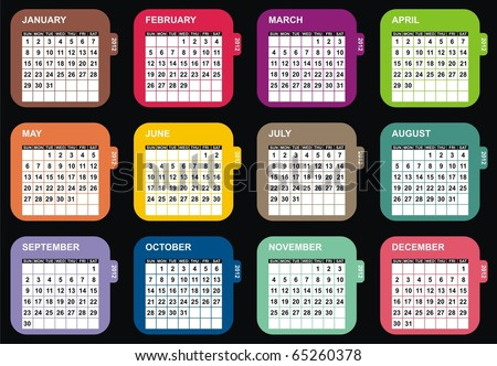 VECTOR - Calendar Design 2012 - stock vector