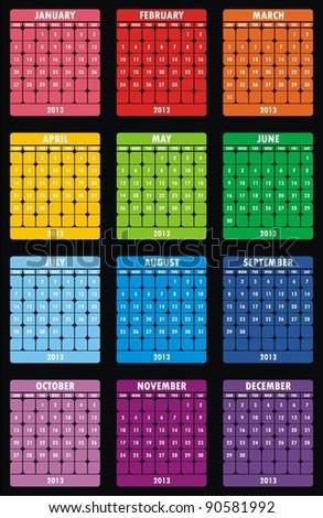 VECTOR - Calendar Design 2013 - stock vector
