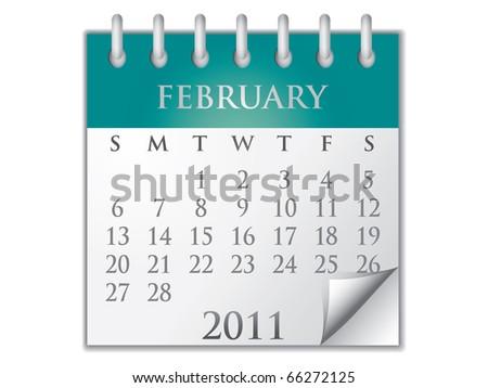 Vector Calendar February 2011 - stock vector