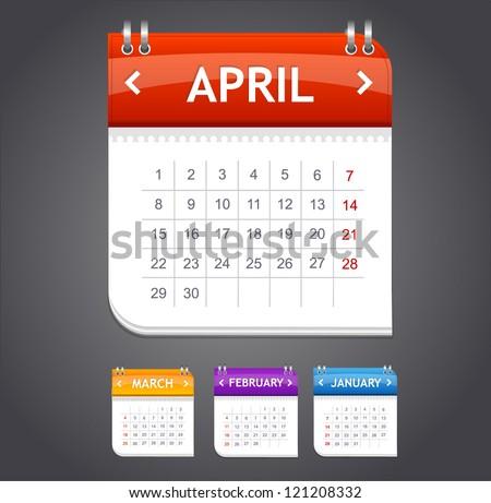 Vector calendar november - stock vector