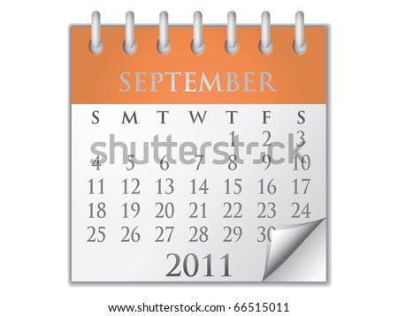Vector Calendar September 2011 - stock vector