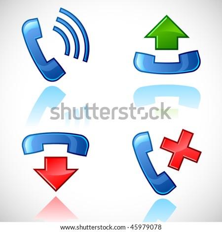vector call icons - stock vector