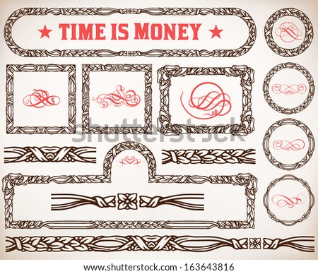 Vector. calligraphic design elements and page decoration - stock vector